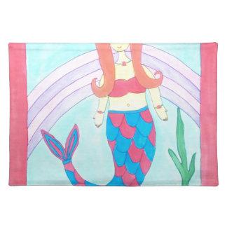 Cute little mermaid placemat