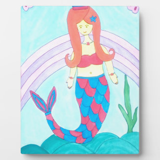 Cute little mermaid plaque