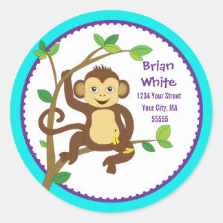 Cute Little Monkey Address Label