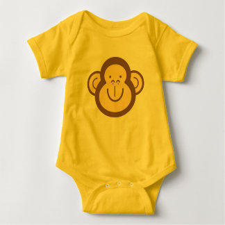 Cute Little Monkey Face Baby Bodysuit