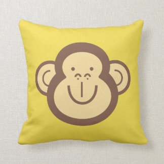 Cute Little Monkey Face Decorative Throw Pillow