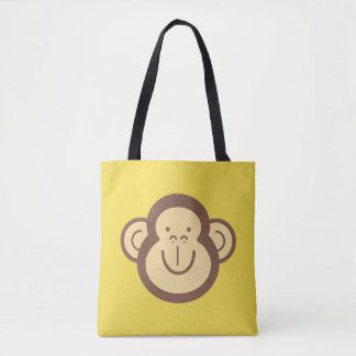 Cute Little Monkey Face Tote Bag