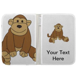 Cute Little Monkey Kindle Folio Cases
