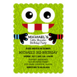 Cute Little Monster Birthday Party Invite