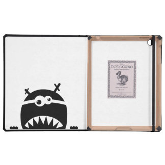 Cute little monster stencil iPad cases