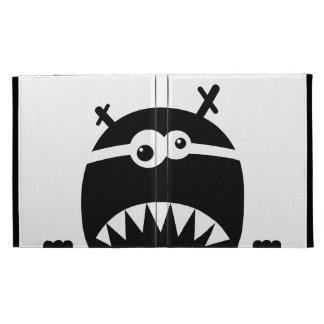Cute little monster stencil iPad case