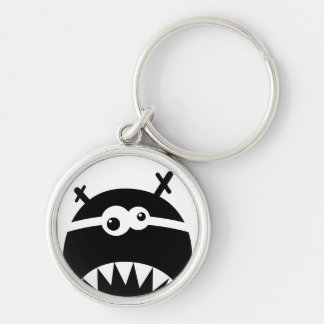 Cute little monster stencil key chains