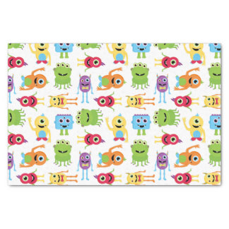 Cute Little Monsters Party Pattern Tissue Paper