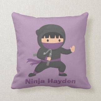 Cute Little Ninja with Nunchaku Boys Room Decor Pillows