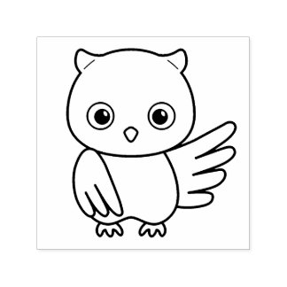 Cute Little Owl Self-inking Stamp