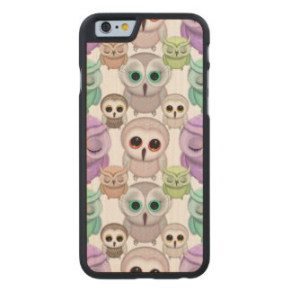 Cute Little Owls in Pastel Colors Carved® Maple iPhone 6 Case