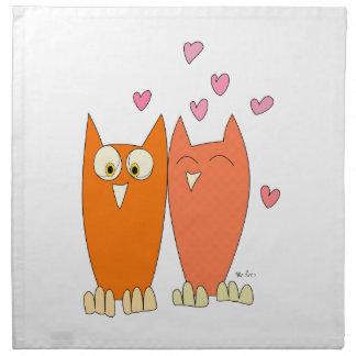 Cute little owls napkin
