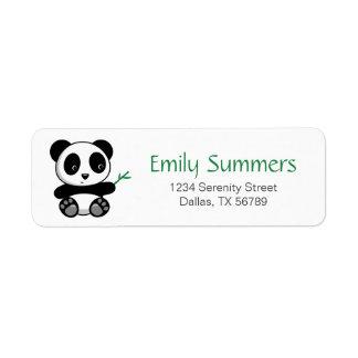 Cute Little Panda with a Bamboo Stick