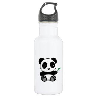 Cute Little Panda with a Bamboo Stick 532 Ml Water Bottle