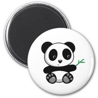 Cute Little Panda with a Bamboo Stick Magnet