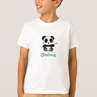 Cute Little Panda with a Bamboo Stick T-Shirt
