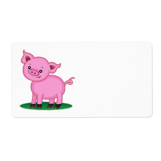 Cute Little Pig Label