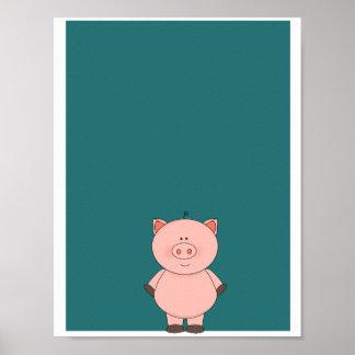 Cute Little Pig poster