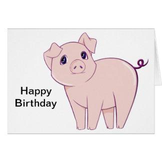 Cute Little Piggy Art Greeting Card