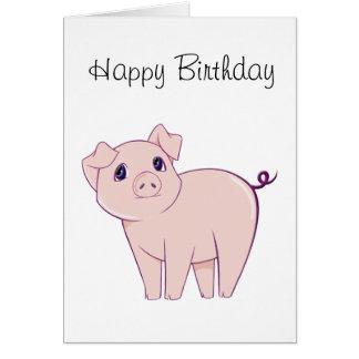 Cute Little Piggy Art Greeting Cards