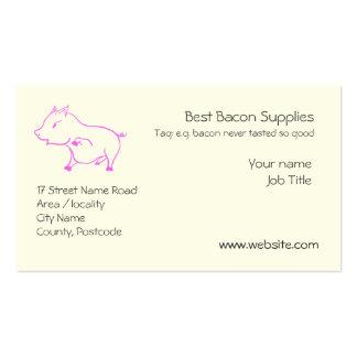 Cute little Piggy in Pink Business Card