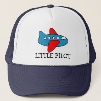 Cute little pilot airplane trucker hat for kids