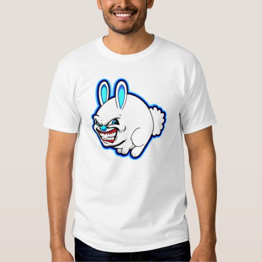 Cute little Pink Apple bunny (in blue) T-shirts