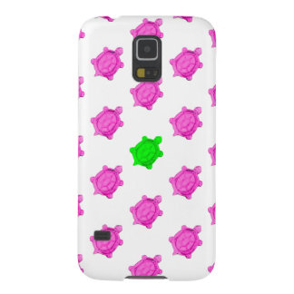 Cute Little Pink/Green Turtle Pattern Galaxy S5 Cover