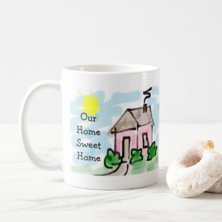 Cute Little Pink House Our Home Sweet Home Coffee Mug
