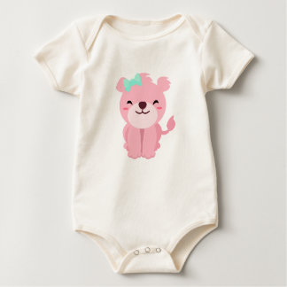 Cute Little Pink Lioness Baby Bodysuit
