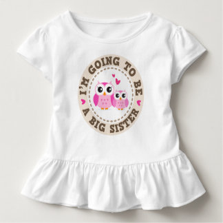 Cute little pink owl Im going to be a big sister Toddler T-shirt