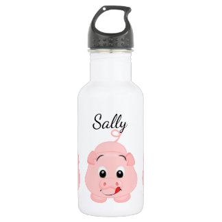 Cute Little Pink Piggy Personalized 532 Ml Water Bottle