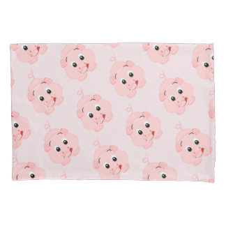 Cute Little Pink Piggy Pillowcase