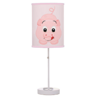 Cute Little Pink Piggy Table Lamp