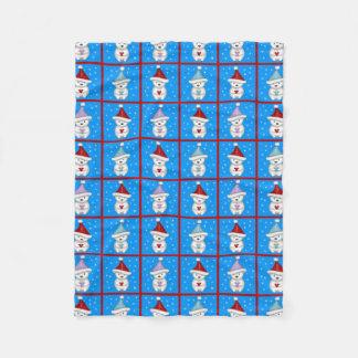 Cute Little Polar Bears Holiday Art Fleece Blanket