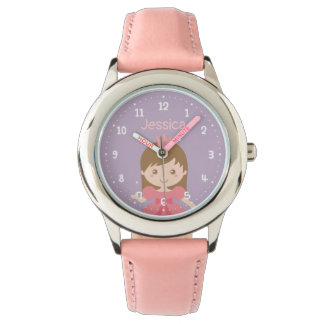 Cute Little Princess Girl Personalized Watch