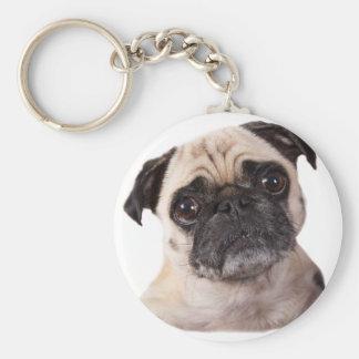 cute little pug dog keychain