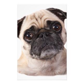 cute little pug dog stationery design
