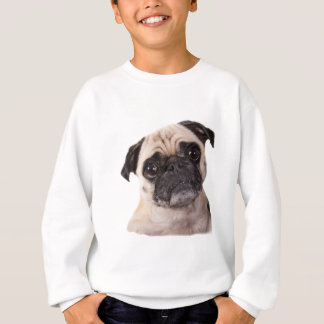 cute little pug dog sweatshirt