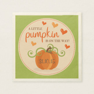 Cute Little Pumpkin Baby Shower Napkins Disposable Napkins