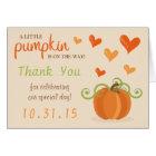 Cute Little Pumpkin Baby Shower Thank You Cards