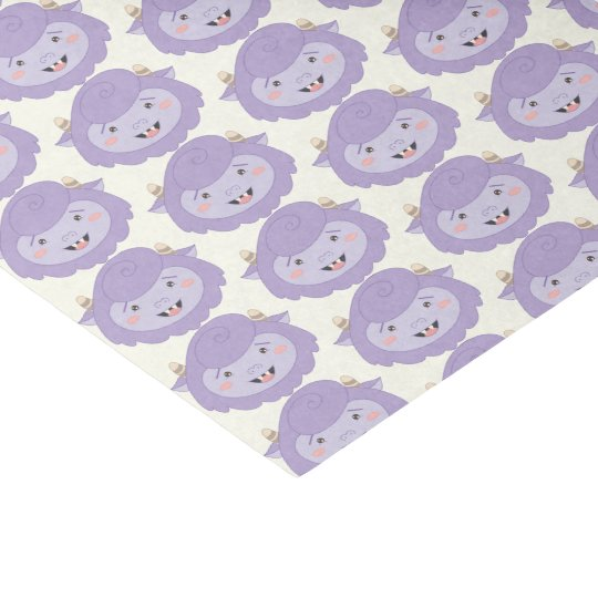 Cute Little Purple Monsters Tissue Paper