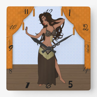 Cute Little Raqs Sharqi Bellydancer Clocks