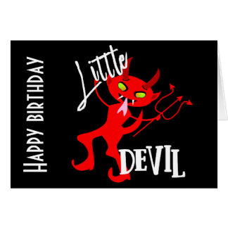 Cute Little Red Devil Funny Graphic Card