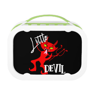 Cute Little Red Devil Funny Graphic Lunch Box
