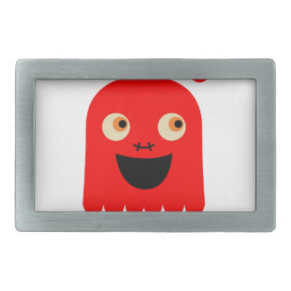 Cute little  Red monster on white Belt Buckle
