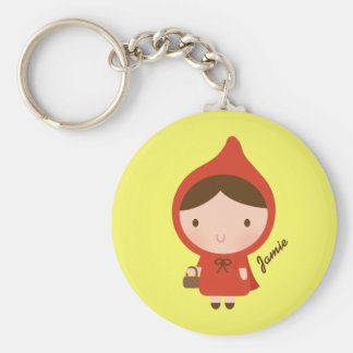Cute Little Red Riding Hood Fairytale for Girls Keychain