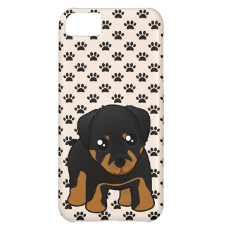 Cute Little Rottweiler Puppy Dog Cartoon Animal Case For iPhone 5C