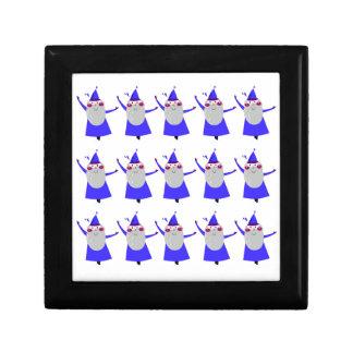 Cute little Santas blue Gift Box