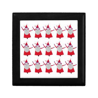 Cute little Santas Red Gift Box